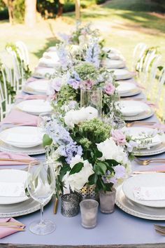 Romantic Wedding Tablescape // Photography ~ White Images