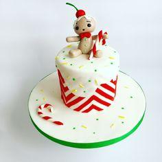 Gingerbreadman cake, candy cane cake, christmas cake