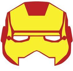 mascara de iron man para fiesta de super heroes