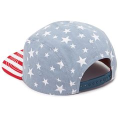 Forever 21 American Flag Five-Panel Hat ($8.90) ❤ liked on Polyvore featuring accessories, hats, snapback hats, snap back hats, adjustable hats, usa flag snapback and star hat