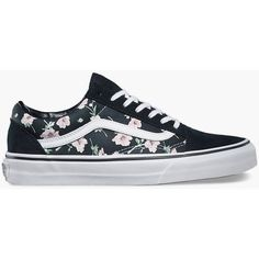 Vans Vintage Floral Old Skool Womens Shoes ($60) ❤ liked on Polyvore featuring shoes, multi, floral sneakers, low profile sneakers, vans sneakers, skate shoes and floral shoes