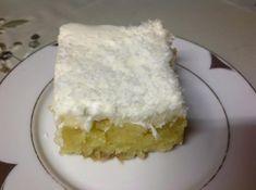 Η Συνταγή είναι της κ. Stavroula Aifanth ! Yλικά Για την βάση 1+1/2 κούπα ινδική καρύδα 1+1/2 κούπα φαρίνα 1 κουτ. γλυκού μπέικιν 2/3 κούπας βούτυρο 1 κούπα ζάχαρη 3 αυγά 2/3 κούπας γάλα ξύσμα πορτοκαλιού  Σιρόπι 1+1/2 Greek Sweets, Greek Desserts, Greek Recipes, Icebox Cake, Cake Bars, Sweets Cake, Cupcake Cakes, Food Cakes, Greek Pastries