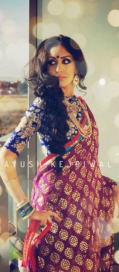 Saree by Ayush Kejriwal For purchase enquires email me at ayushk@hotmail.co.uk or whats app me on 00447840384707.                                                                                                                                                     More