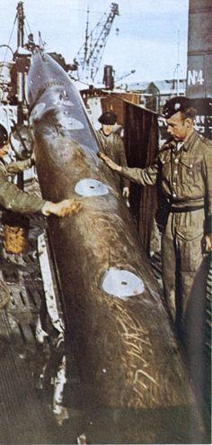 Torpedo de un submarino U-Bot de la Kriegsmarine alemana #Historia #IIGM.