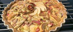 tarte pommes rhubarbe
