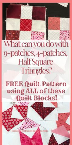 Free Quilt Pattern to make and gift to a special person! A beginner friendly quilt pattern using 4 patches, 9 patches, HSTs. Click through to my site and pick up your pattern! Quilting For Beginners, Quilting Tips, Quilting Tutorials, Quilting Projects, Quilting Designs, Sewing Projects, Beginner Quilting, Beginners Sewing, Sewing Ideas