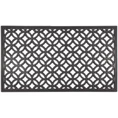 Amazon.com : Entryways Circle Chains Recycled Rubber Doormat : Patio, Lawn & Garden