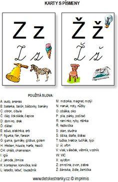 Abeceda – karty s písmeny – Dětské stránky Word Search, Alphabet, Words, School, Montessori, Google, Speech Language Therapy, Classroom, Studying