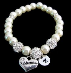 Hey, I found this really awesome Etsy listing at https://www.etsy.com/listing/227376673/bridesmaid-pearl-bracelet-rhinestone