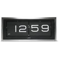 LEFF Amsterdam Brick Wall & Desk Clock - Stainless Steel (€235) ❤ liked on Polyvore featuring home, home decor, clocks, fillers, decor, word clock, battery clock, stainless steel clock, battery operated clocks and battery powered clock