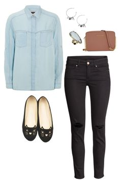 Saturday comfort by brittru84 on Polyvore featuring polyvore, fashion, style, 7 For All Mankind, H&M, WithChic, Michael Kors, Kendra Scott and clothing