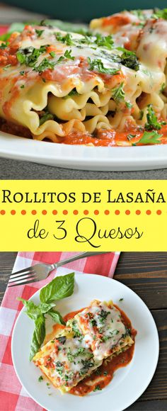 If you are like us and love lasagna in any form, then you should try this recipe for three cheese lasagna rollups. Keep reading to find out how easy it is! Homemade Spaghetti, Homemade Pasta, Lasagna Recipe Roll Ups, Cold Pasta Dishes, Rice Dishes, Main Dishes, Pasta Recipes, Dinner Recipes, Soup Recipes