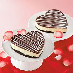 gâteaux au fromage en coeurs / Heart Cheesecakes