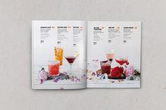 Коктейльные карты с летними и осенними напитками on Behance