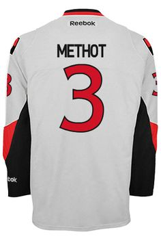 Ottawa Senators Marc METHOT #3 Official Away Reebok Premier Replica NHL Hockey Jersey (HAND SEWN CUSTOMIZATION)