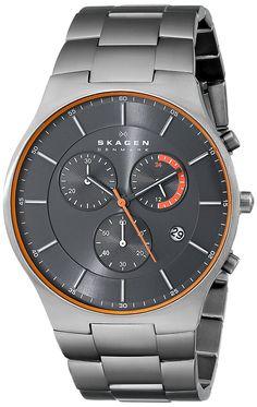 Skagen Men's SKW6076 Balder Titanium Chronograph Watch ** For more information, visit image link.