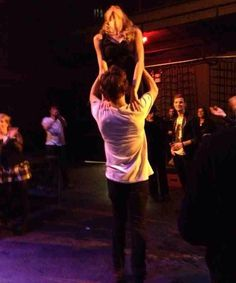 So...Taylor Swift and Harry Styles doing Dirty Dancing at the MSG after-party. (My heart breaking one picture at a time). i don't think this is real but still