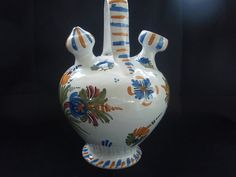 Flowered Jug from Spain  Talavera  Hand by SocialmarysTreasures, $19.99