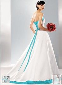ef59a13d9a5 Beautiful Tiffany Blue and white wedding dress. Beautiful blue ...