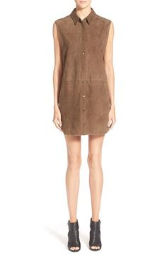 Vince Sleeveless Suede Tunic Dress available at #Nordstrom
