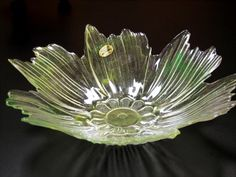 LG COSMOS FLOWER BOWL MURANO GLASS,Italian Studio Art,Italy NEW floral
