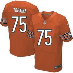 Nike Chicago Bears Toeaina Matt Jersey Men Orange #75 Alternate NFL Jerseys Sale