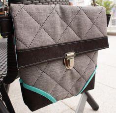 Tasche Cosy aus Korkstoff - Schnittmuster in zwei Größen - www.lalafab.de/shop