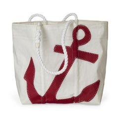 Sea Bags - Red Anchor Tote