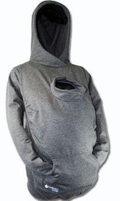 Handige trui in de winter voor mama en baby (in draagzak)