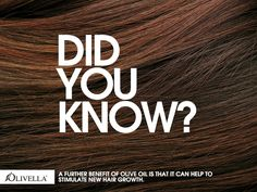 Did you know?  A further benefit of olive oil is that it can help to stimulate new hair growth. #weloveoliveoil