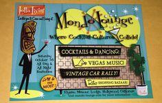 Mondo Lounge 2004 Postcard Tiki Shag Elysian Masonic Lodge Hollywood California