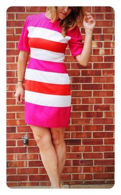 Women's Vintage Striped Dress