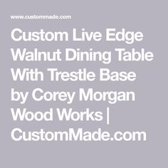 This Dining Table is made from a beautifully figured walnut slab, bookmatched to create the mirrored effect. The natural finish used on this furnitur… Walnut Slab, Walnut Dining Table, Tables, Base, Wood, Mesas, Woodwind Instrument, Timber Wood, Wood Planks
