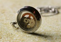 Steampunk Gears Floating Charm like Origami Owl set by RepliKitty, $10.00