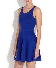 Blue (Blue) Royal Blue Skater Dress  d0a8c3a4a