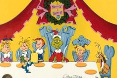 Who Christmas Feast / / The Grinch / Hand Painted Limited Edition Cels / Animation Connection / Cartoon Art / Cels (Cells) / Online Sales Grinch Christmas Party, Grinch Who Stole Christmas, Christmas Tale, Meaning Of Christmas, Little Christmas, Christmas Movies, Christmas Ideas, Christmas Stuff, Vintage Christmas