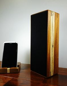 Wood Bluetooth Speaker MiniLith 2.0 Sapele by FentonCreekWoodWorks, $159.00