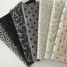 Black...Grey...White by El Gallo. {link in profile} #annabellesstash #etsy… Quilt Material, Sewing Material, Fabric Ribbon, Cool Fabric, Fabric Combinations, Textiles, Collar Designs, Shirt Quilt, Fabulous Fabrics