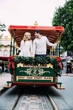 This charming holiday engagement session at Disneyland completely stole our hearts