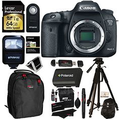 Canon EOS 7D Mark II Digital SLR Camera (Body) + Lexar 64GB 600x SDXC Card + Polaroid 72 Inch Tripod + Polaroid LP-E6 Battery + Polaroid Slave Flash + Professional DSLR Case + Deluxe Polaroid Accessory Kit - http://cameras.nationalsales.com/canon-eos-7d-mark-ii-digital-slr-camera-body-lexar-64gb-600x-sdxc-card-polaroid-72-inch-tripod-polaroid-lp-e6-battery-polaroid-slave-flash-professional-dslr-case-deluxe-polaroid-accessor/