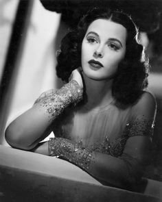 Hedy Lamar.  At one time she was considered to be the most beautiful woman in the world!