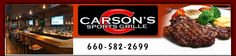 Carson's Sports Bar & Grill has a great selection of food!