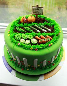 Vegetable Garden Cake Full View