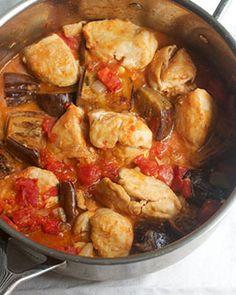 Chicken with Eggplant & Creamy Tomato Sauce -- Almond milk Recipes & Ideas