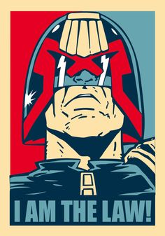 Judge Dredd poster inspired by Obama election graphic. Made with Illustrator CC.