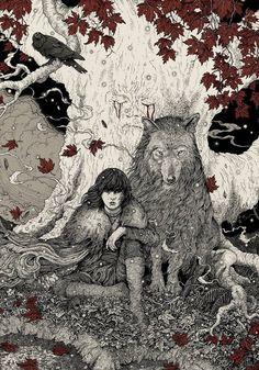 the hoodless girl and the big sad wolf