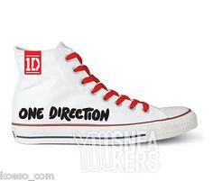 Scarpe One Direction 1D Uniche tipo Converse All Star alte lacci Tubelaces® red[41]