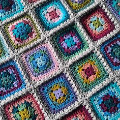 The Harmony Granny Square pattern is used for this blanket.