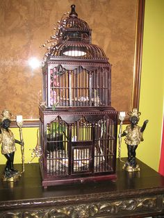 Birdcage that is located in the parlor by angelajgood on flickr.com