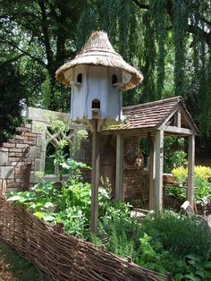 Dovecote and wicket garden